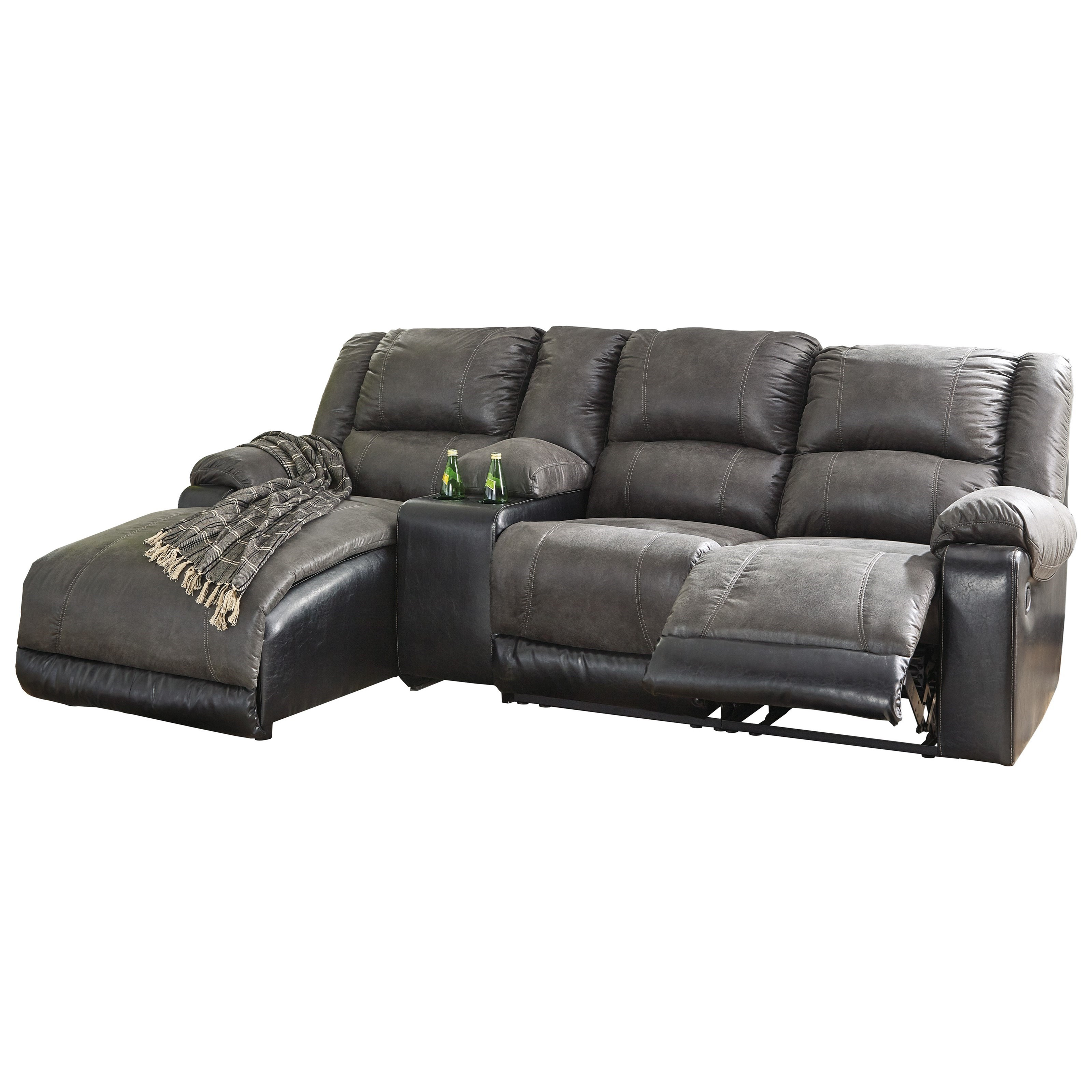 Nantahala Reclining Chaise Sofa by Signature Design by Ashley at Zak's Warehouse Clearance Center