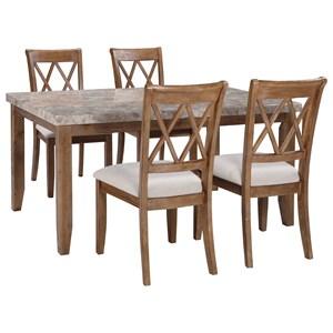 Signature Design by Ashley Narvilla 5-Piece Rectangular Dining Table Set