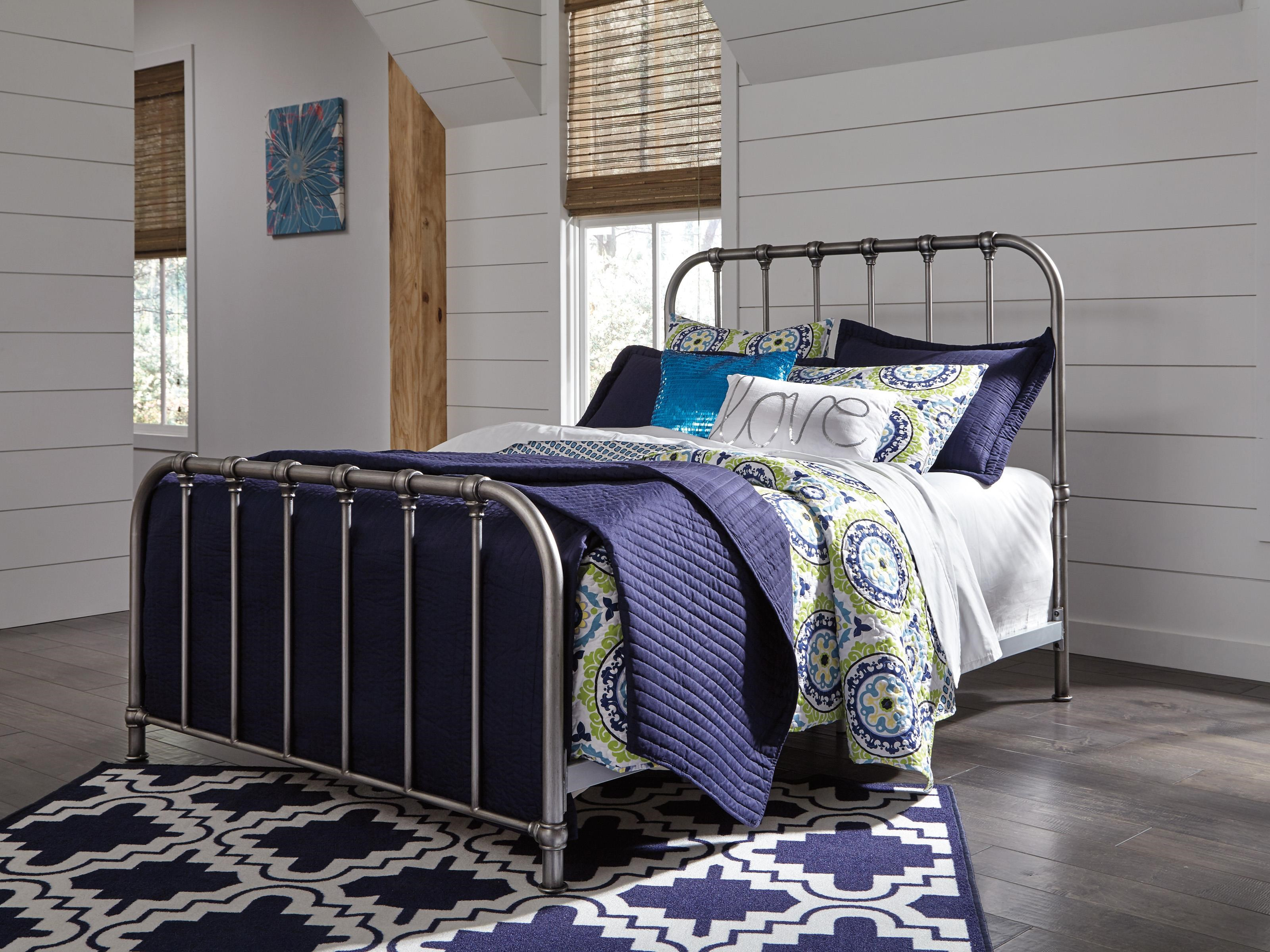 Nashbury Nashbury Queen Metal Bed by Ashley at Morris Home