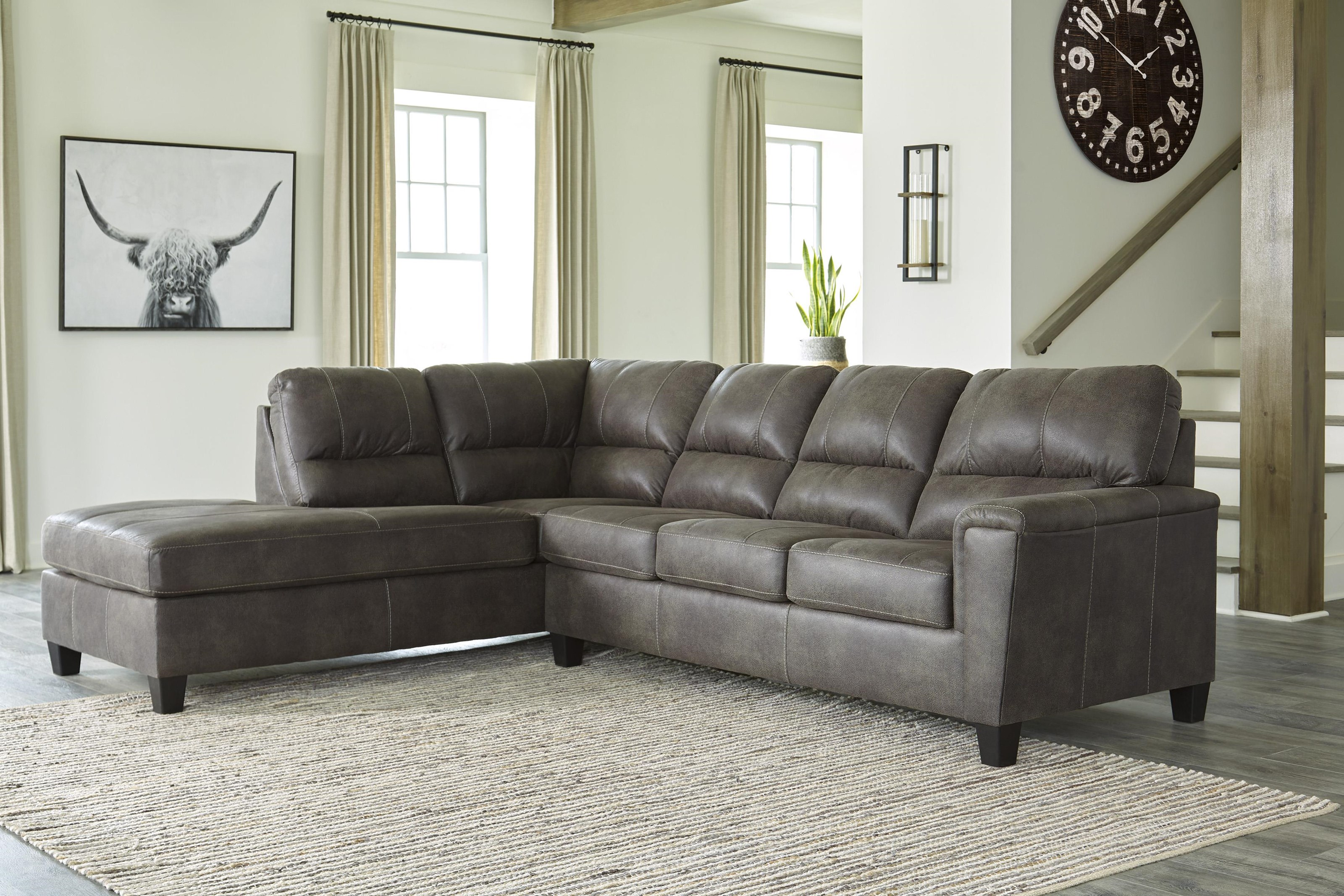 Navi 2 Piece Chaise Sectional and Recliner Set by Signature Design by Ashley at Sam Levitz Outlet