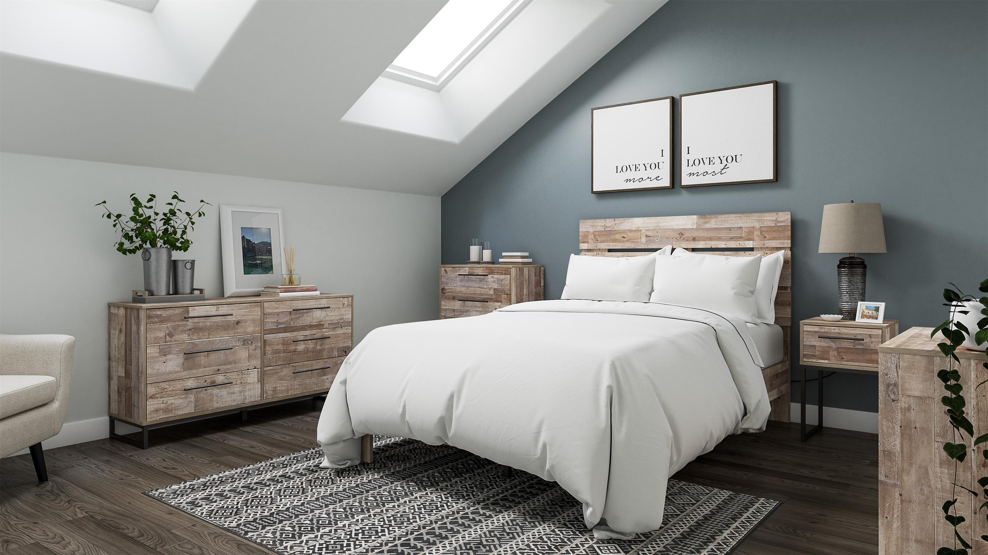 Neilsville 3 Piece Queen Bedroom Set by Signature Design by Ashley at Sam Levitz Furniture