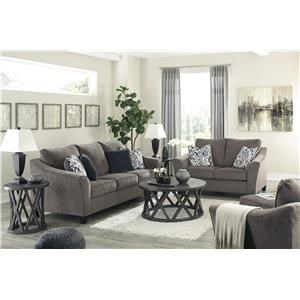 Slate Sofa, Chair and Ottoman Set