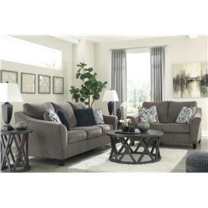 Slate Sofa and Loveseat Set