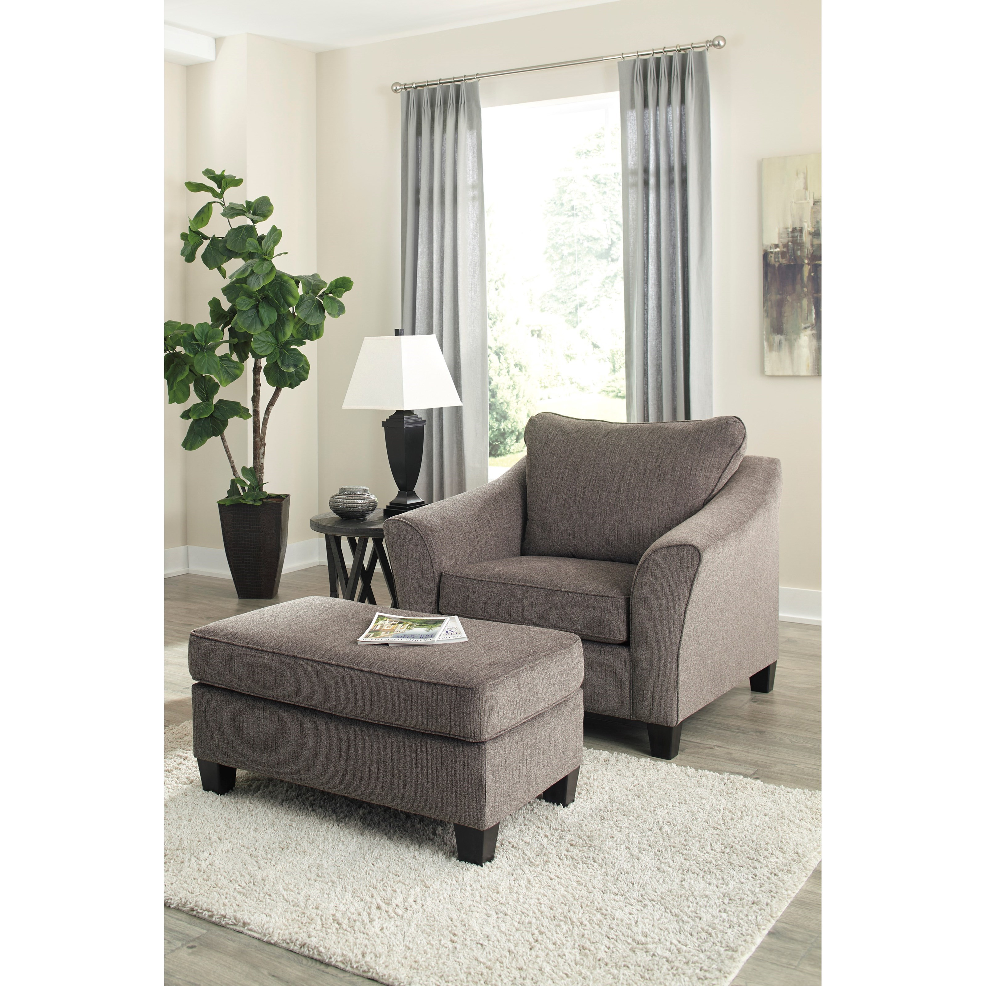 Niya Chair and a Half & Ottoman by Signature at Walker's Furniture
