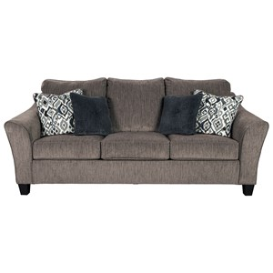 Transitional Sofa with Flared Arm