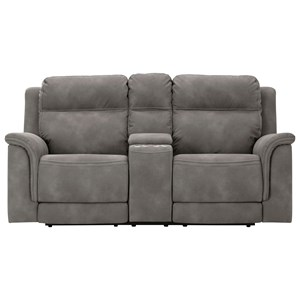 Zero Gravity Pwr Reclining Loveseat with Adj Headrests and Console