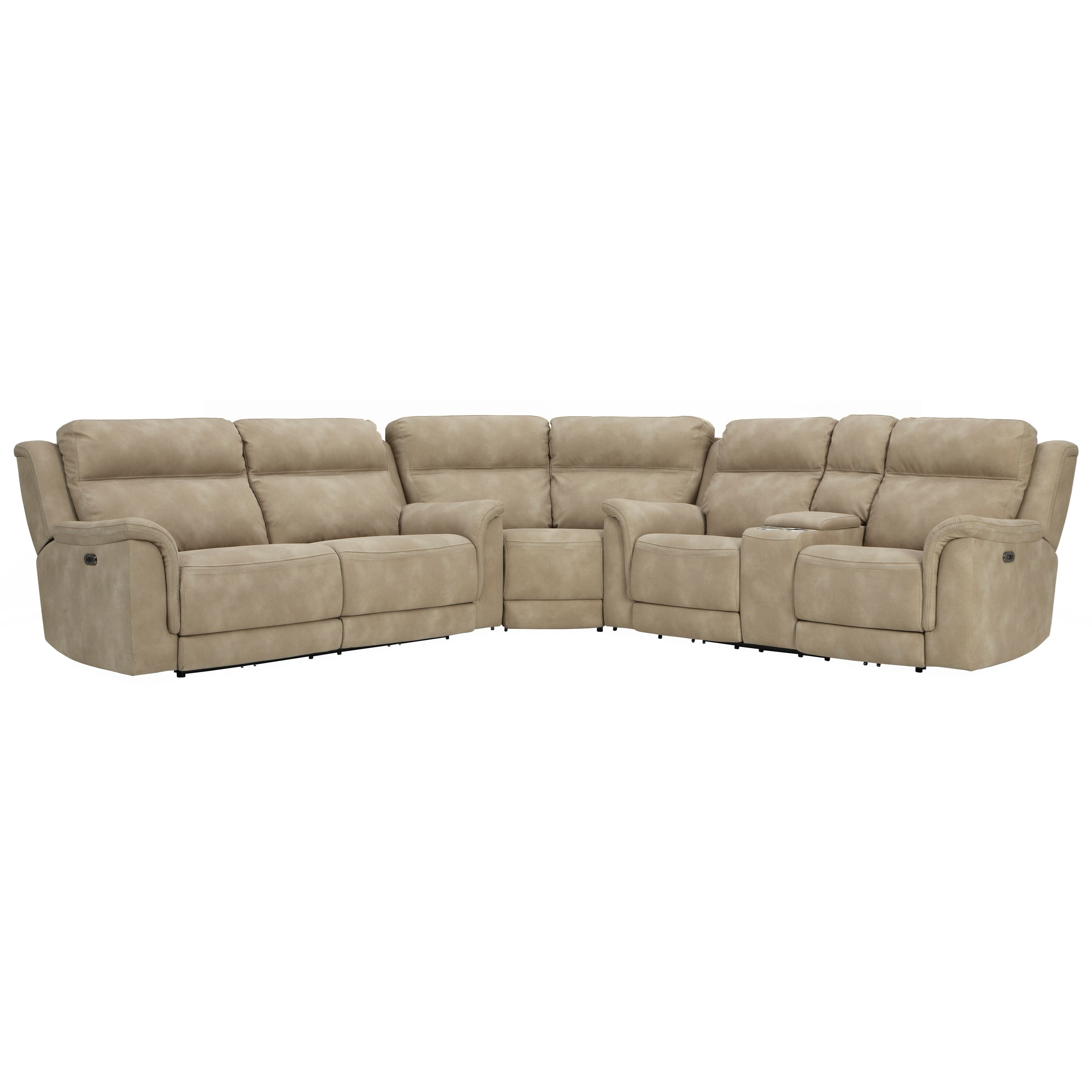 Next-Gen DuraPella Pwr Reclining Sectional with Adj Headrests by Signature Design by Ashley at Value City Furniture