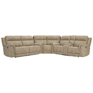 Zero Gravity Power Reclining Sectional with Adj Headrests