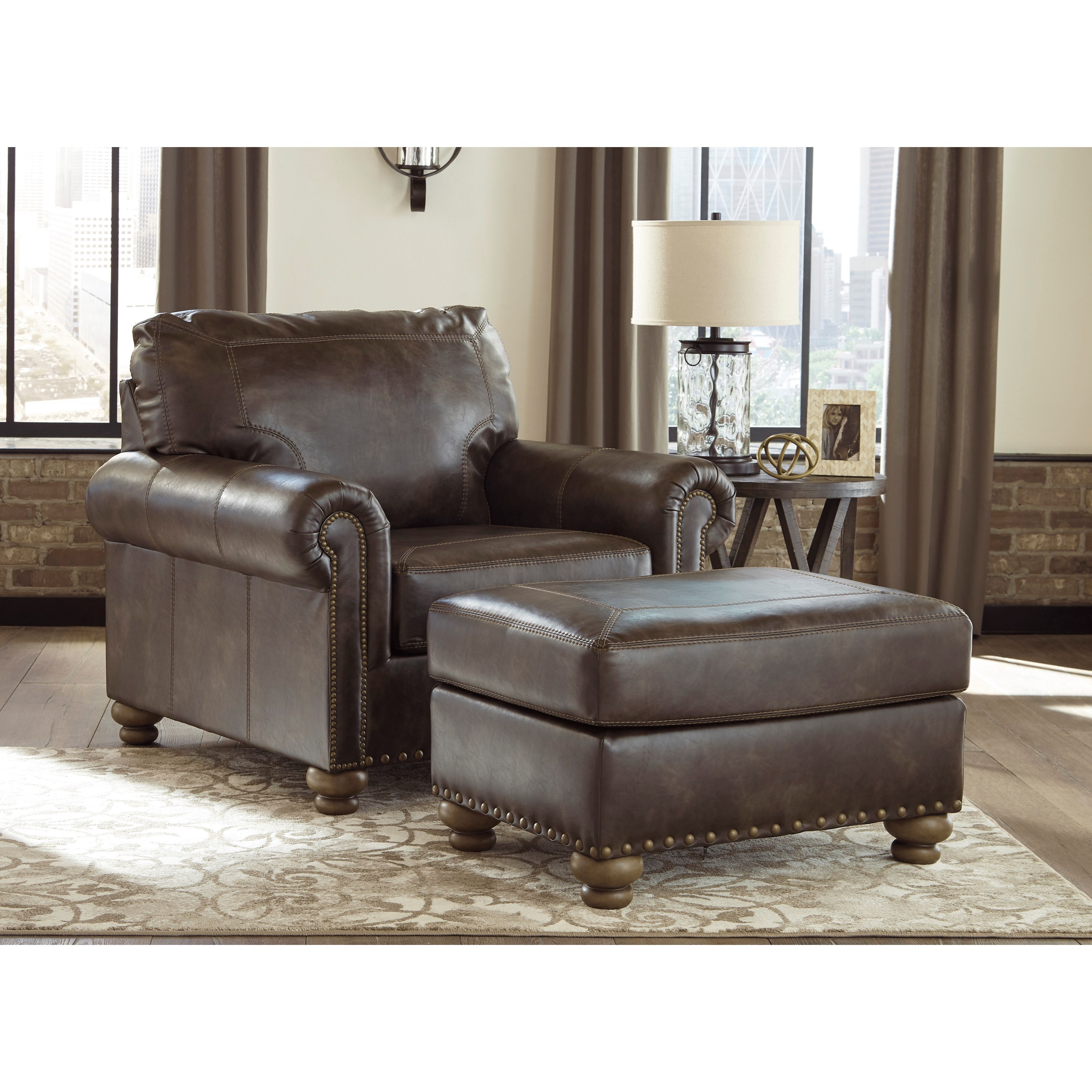 Nicorvo Chair & Ottoman by Signature Design by Ashley at Smart Buy Furniture