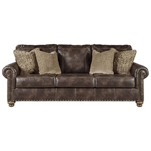 Traditional Queen Sofa Sleeper with Nailhead Trim