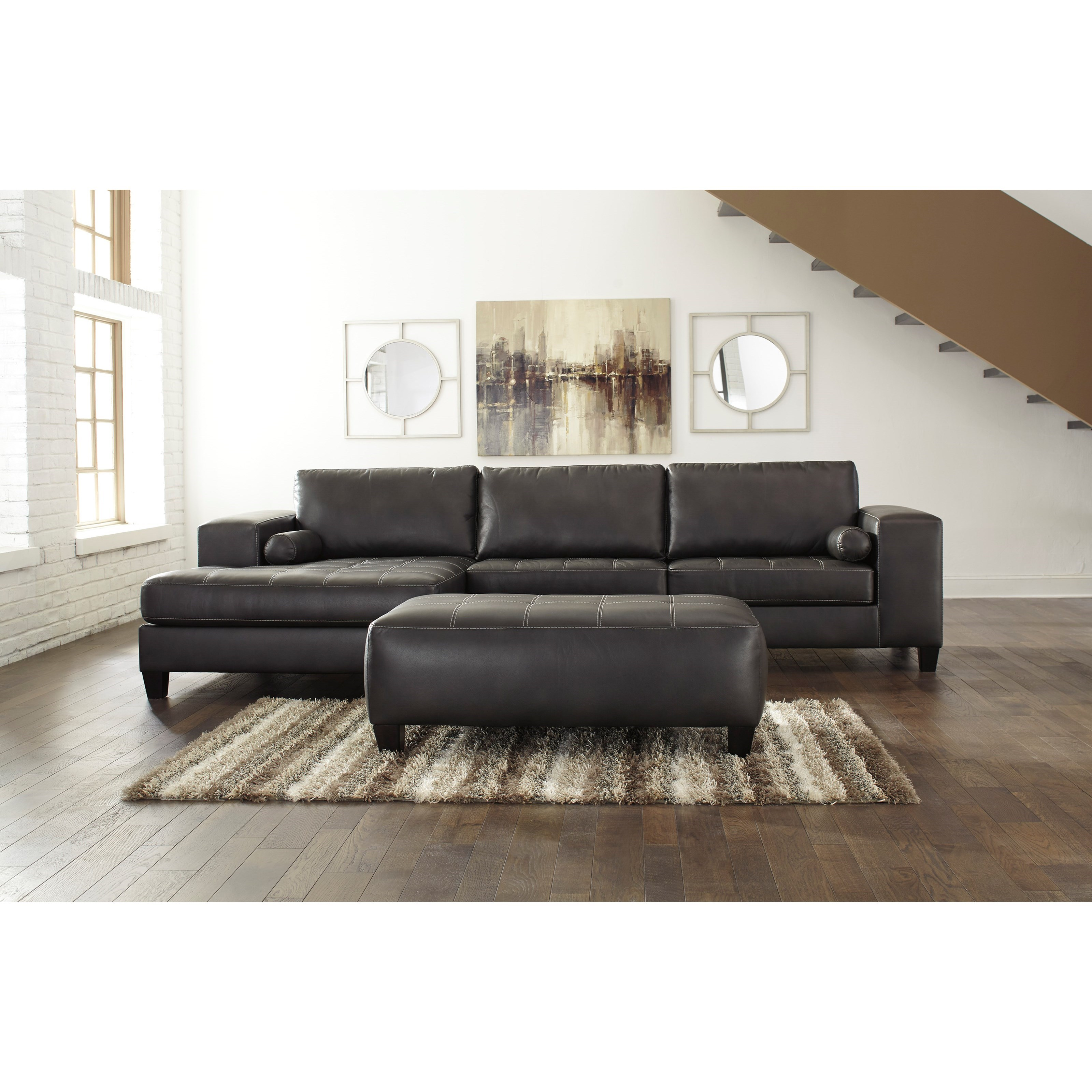 Nokomis 2-Piece Sectional with Ottoman by Signature at Walker's Furniture