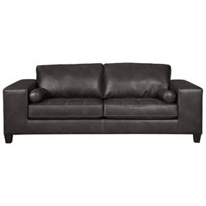 Contemporary Faux Leather Sofa