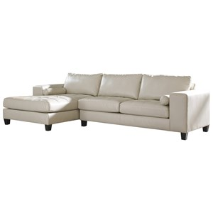 Contemporary Faux Leather Sectional with Left Chaise