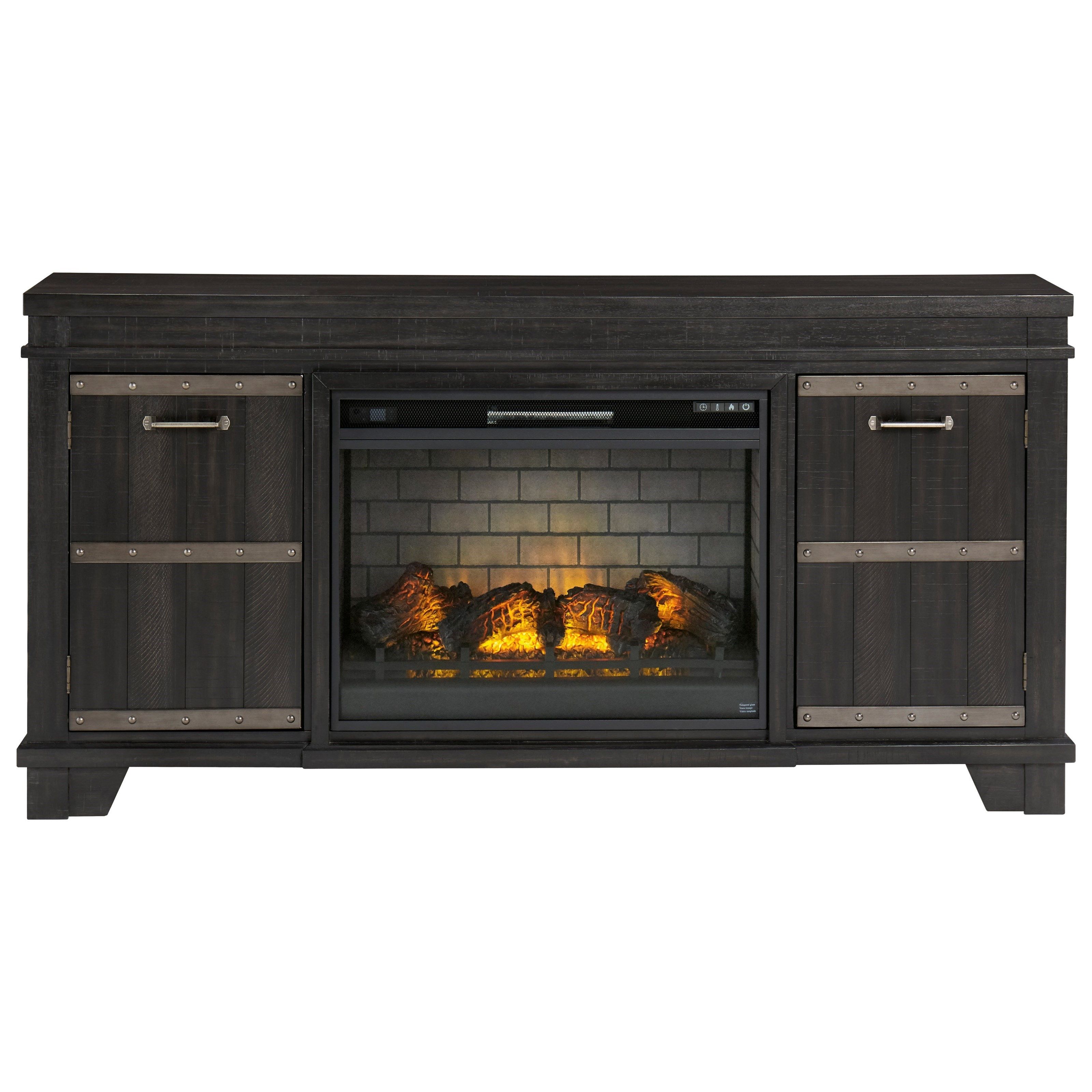 Norton Extra Large TV Stand with Fireplace Insert at Rotmans