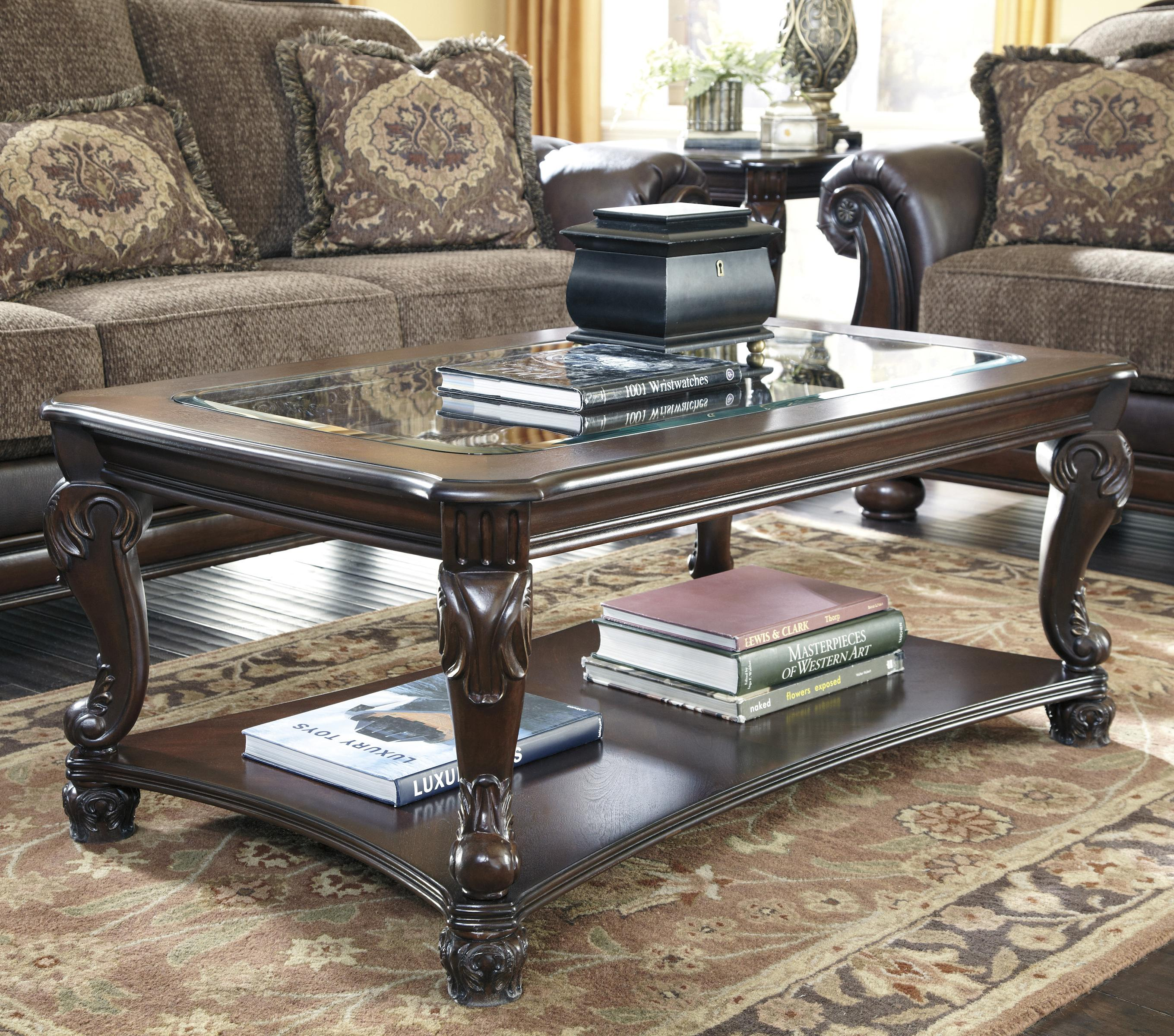 Norcastle Rectangular Cocktail Table by Ashley Furniture Signature Design at Del Sol Furniture