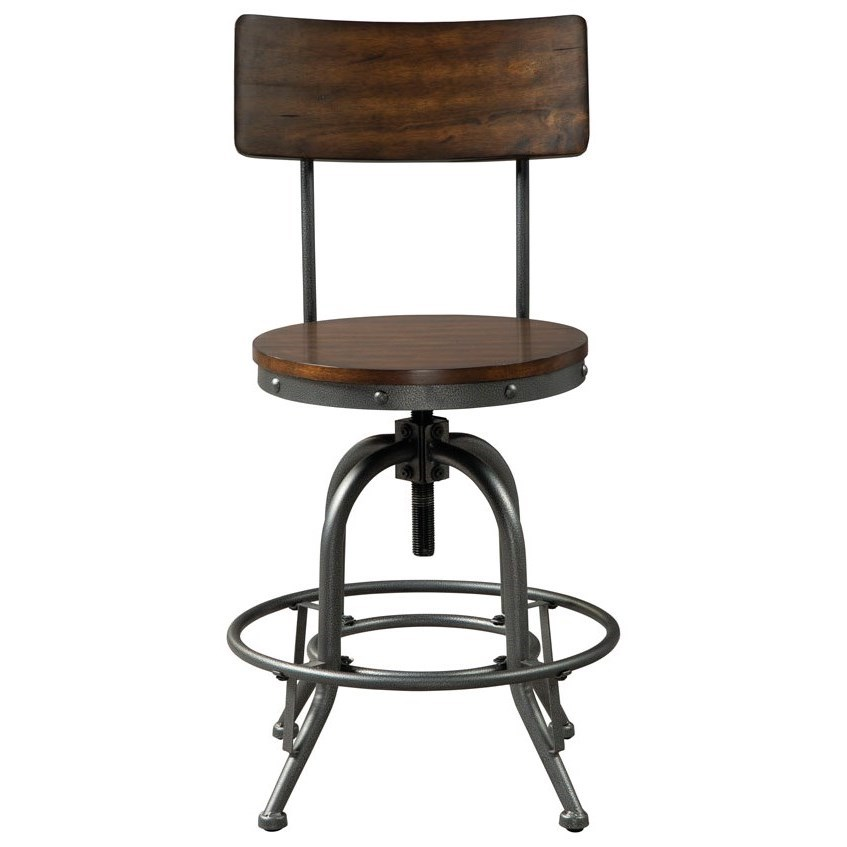 Odium Swivel Barstool by Signature Design by Ashley at Lapeer Furniture & Mattress Center