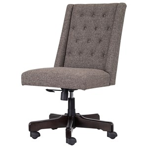 Home Office Swivel Desk Chair in Graphite Fabric