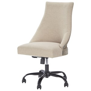 Home Office Swivel Desk Chair in Deconstructed Style