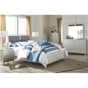 Queen Upholstered Panel Bed, Nightstand and Chest Package