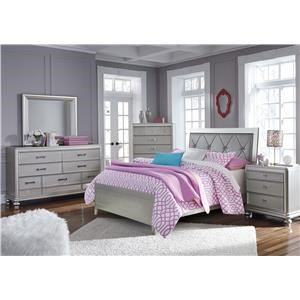 Full Upholstered Panel Bed, Nightstand and Chest Package