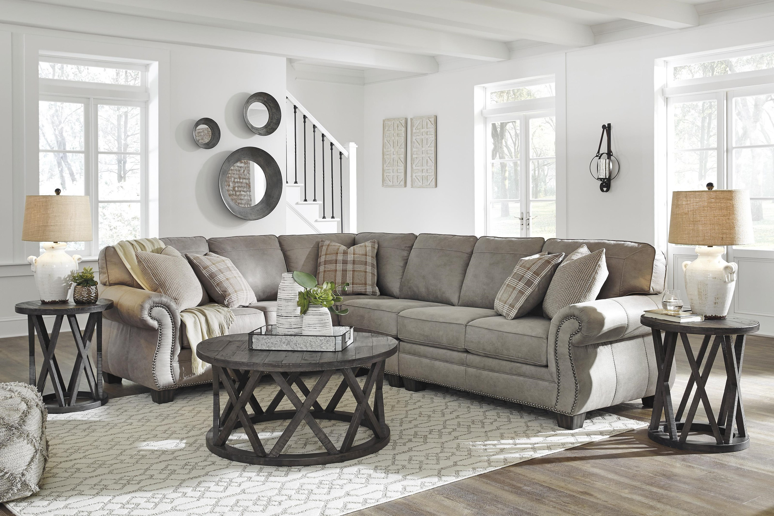 Olsberg 3 Piece Sectional Sofa and Recliner Set by Signature Design by Ashley at Sam Levitz Furniture