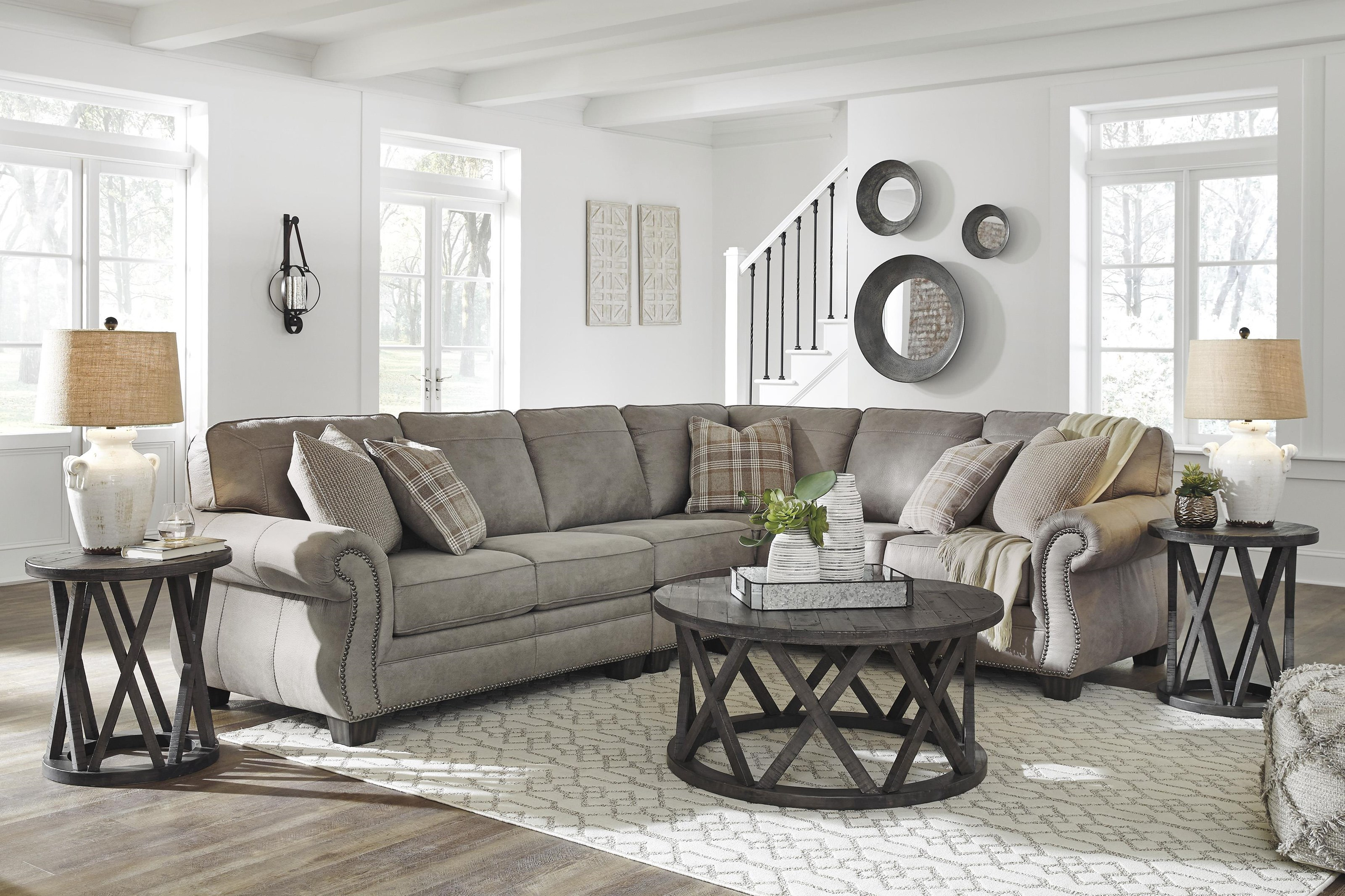 Olsberg 3 Piece Sectional Sofa and nRecliner Set by Signature Design by Ashley at Sam Levitz Outlet