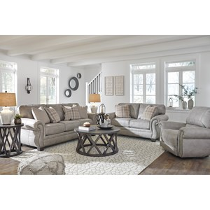 Stationary Living Room Group with Recliner