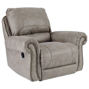 Rocker Recliner with Nailhead Trim