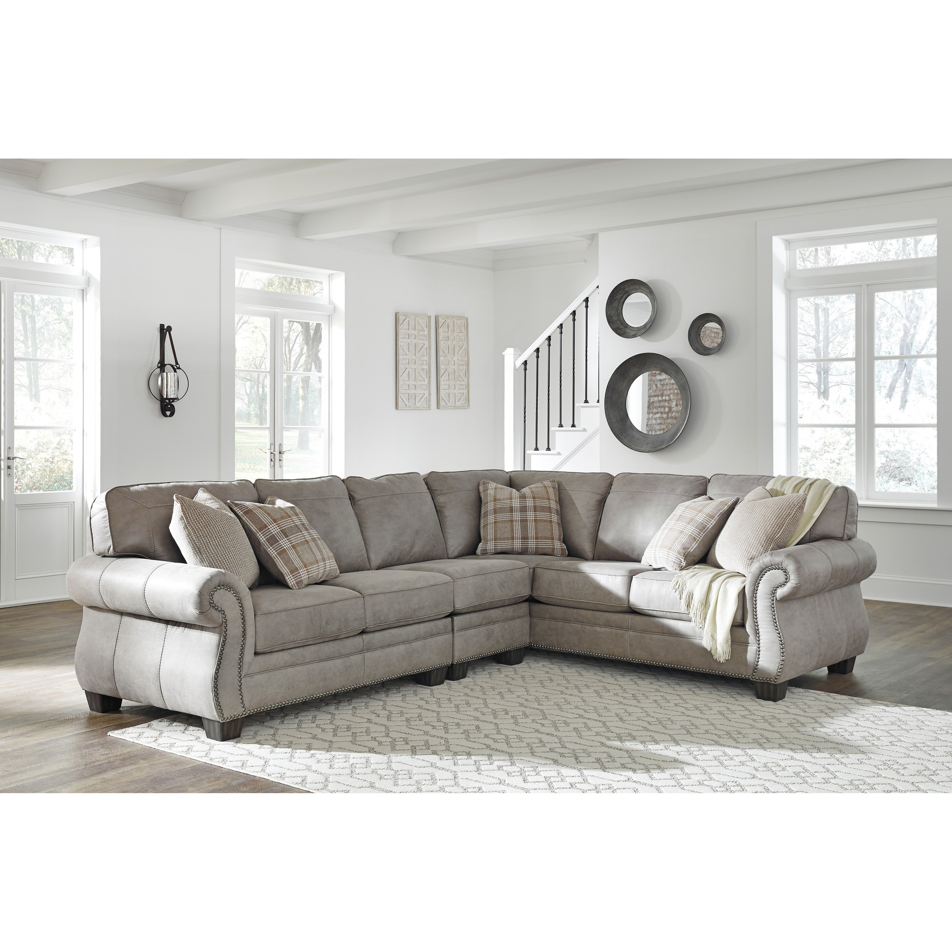 Olsberg 3 Piece L-Shaped Sectional by Signature Design by Ashley at Beck's Furniture