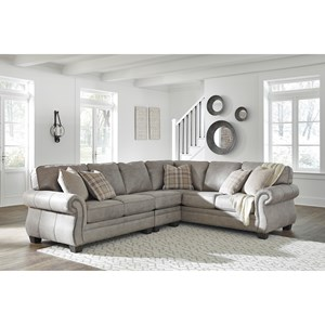 3 Piece L-Shaped Transitional Sectional