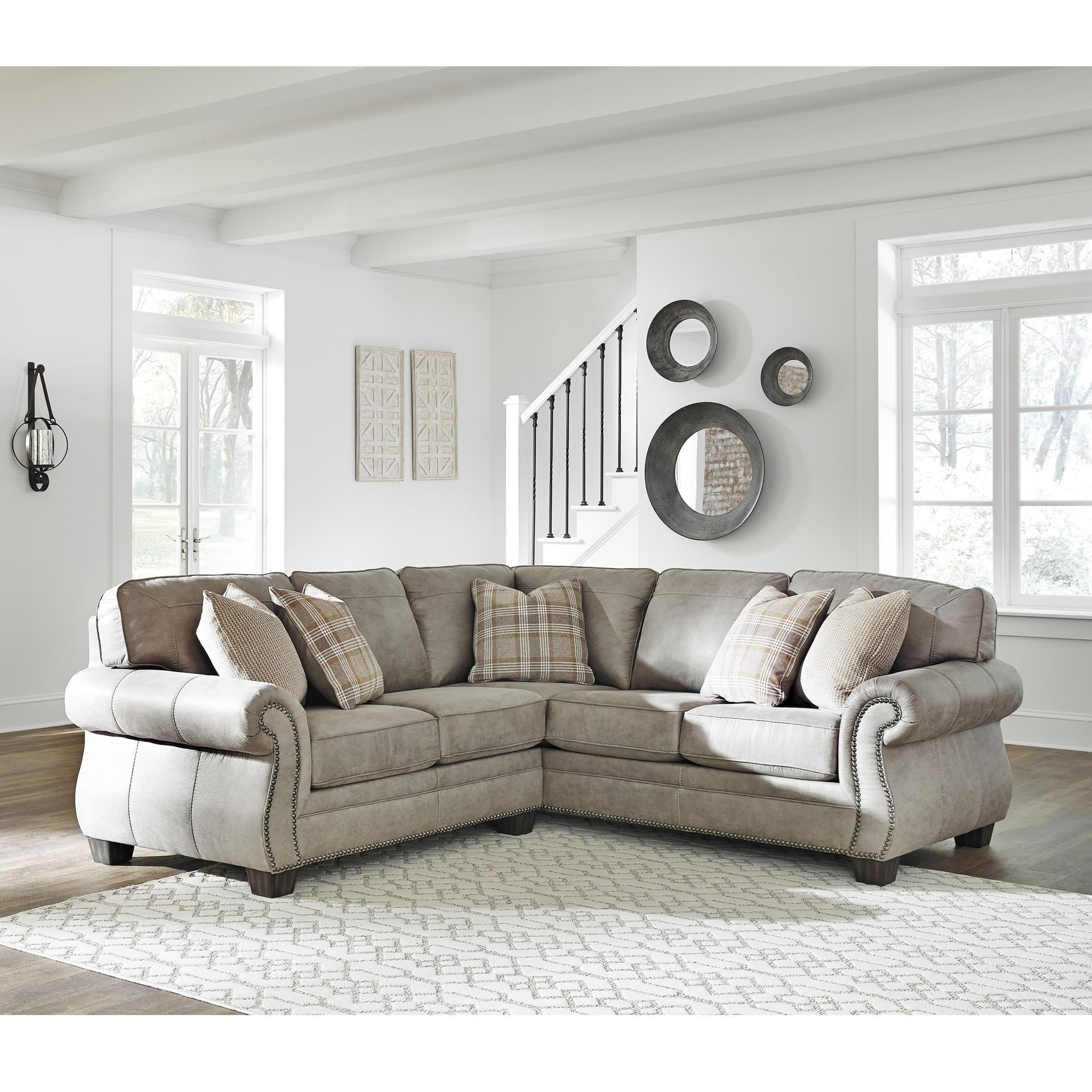 Olsberg 2 Piece Sectional by Signature at Walker's Furniture