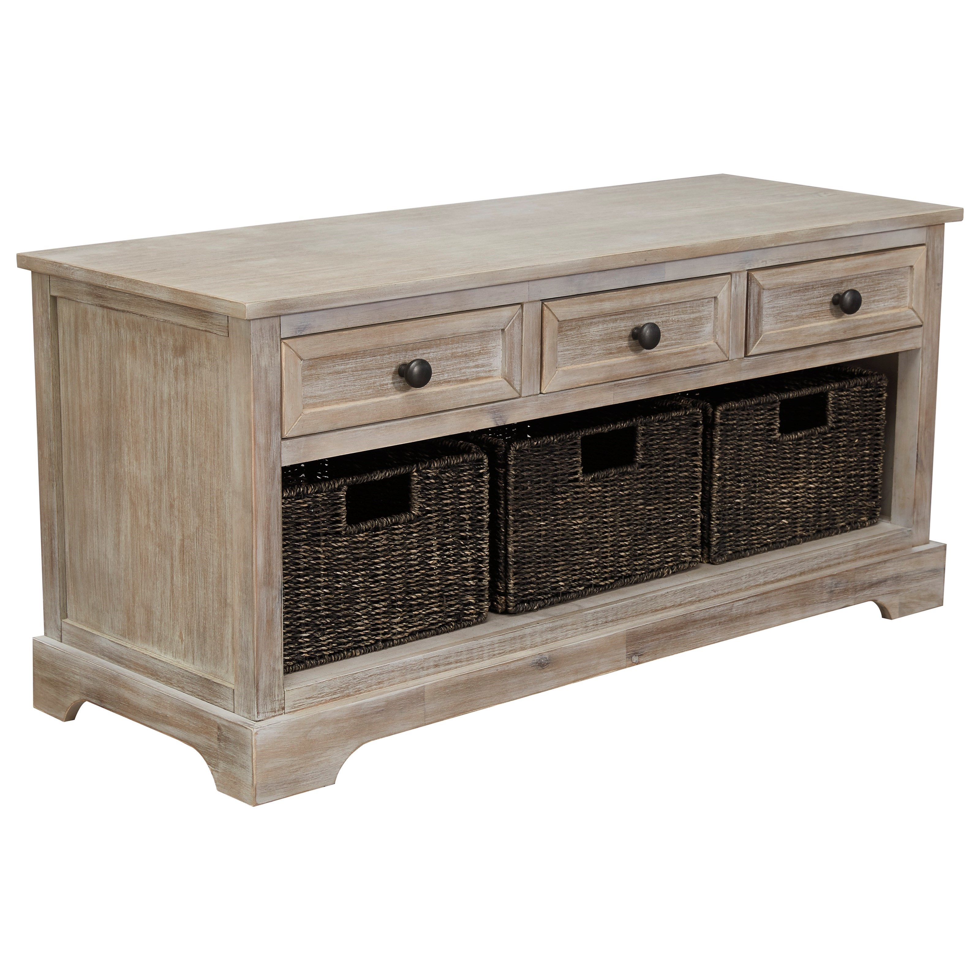 Oslember Storage Bench by Signature Design by Ashley at Household Furniture