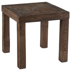 Rustic Square End Table