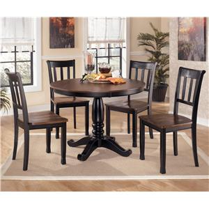 Signature Design by Ashley Owingsville 5-Piece Round Dining Table Set