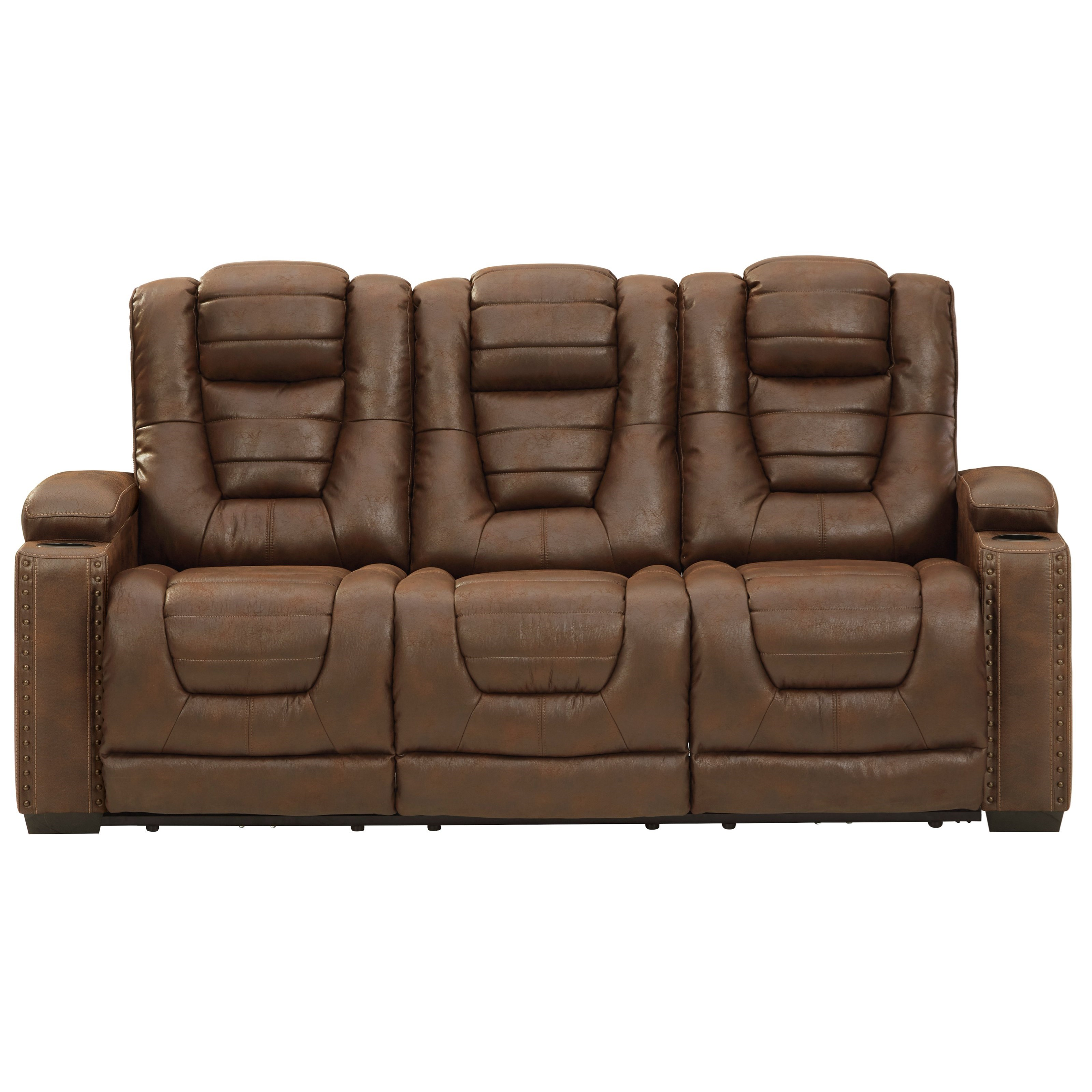 Owner's Box Power Reclining Sofa w/ Adjustable Headrests by Ashley (Signature Design) at Johnny Janosik