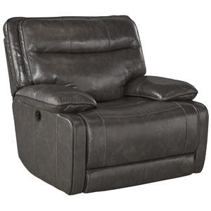 Leather Match Contemporary Rocker Recliner