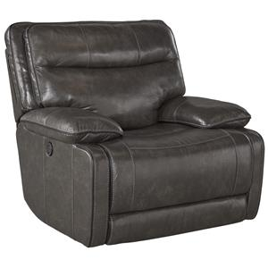 Leather Match Contemporary Power Rocker Recliner