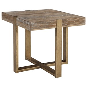 Modern Rustic Square End Table