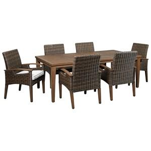 Contemporary 7 Piece Outdoor Dining Set
