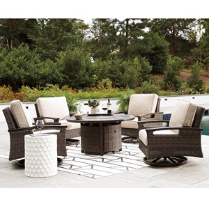 Outdoor Fire Pit Table Set