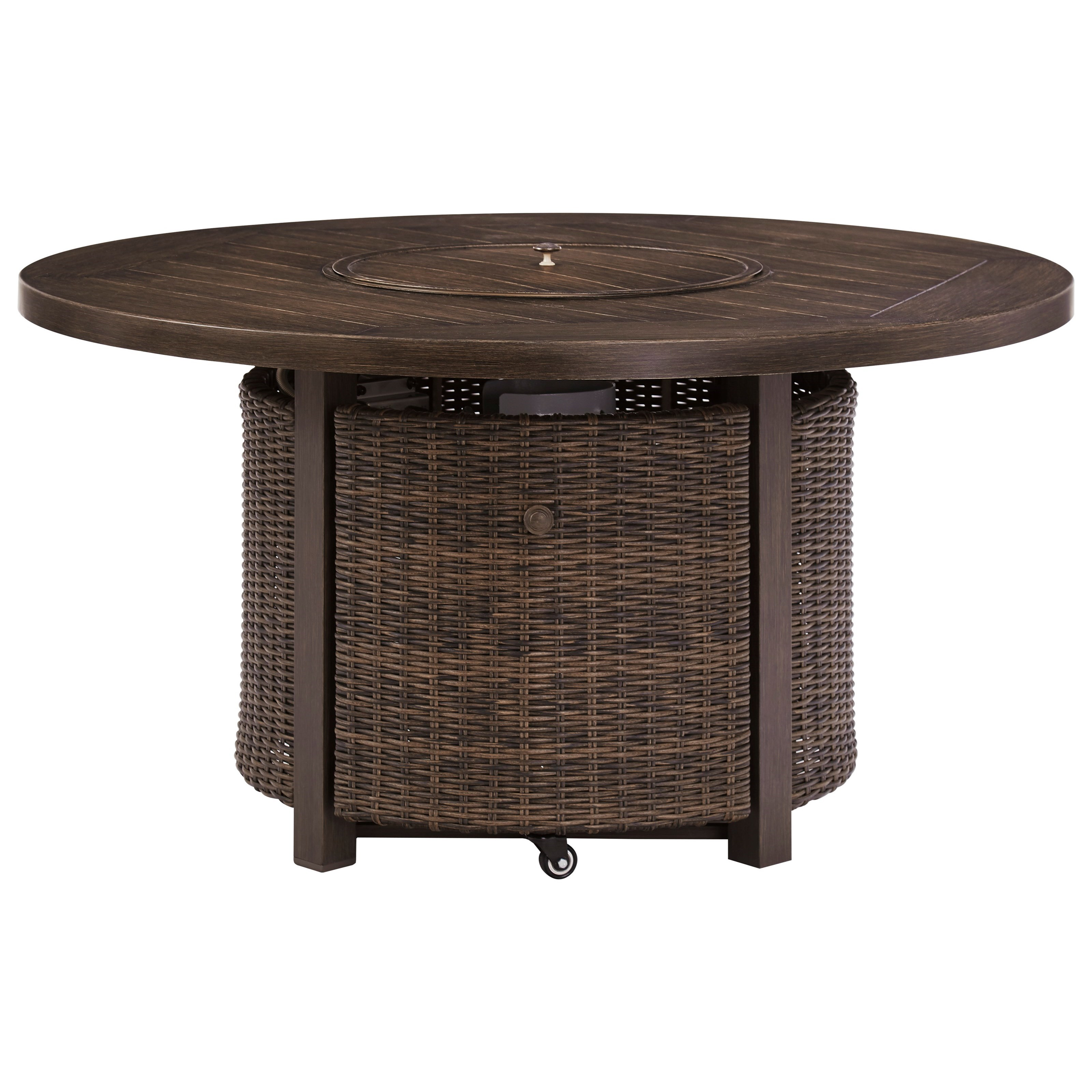 Paradise Trail Round Fire Pit Table by Signature at Walker's Furniture