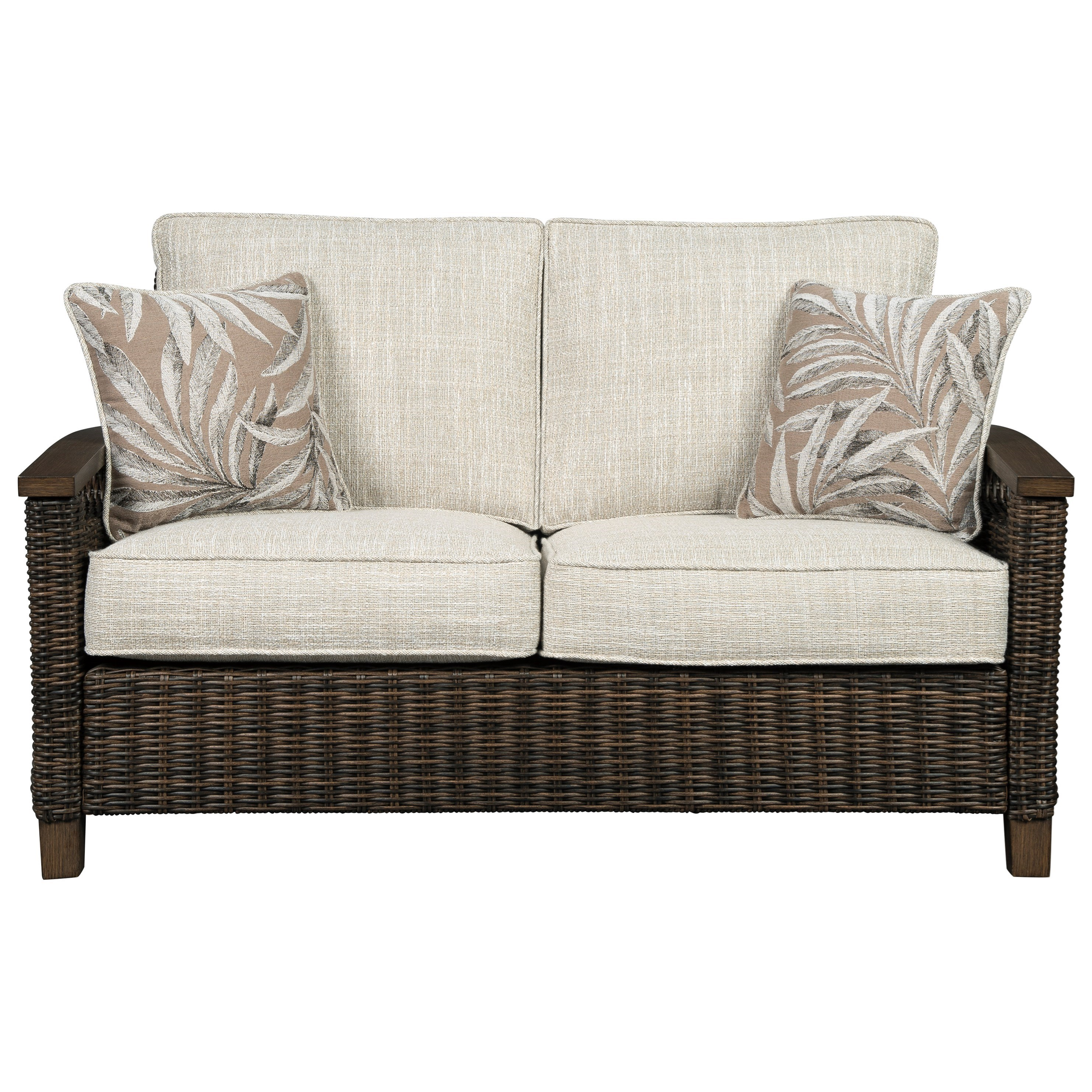 Paradise Trail Loveseat w/ Cushion by Signature at Walker's Furniture