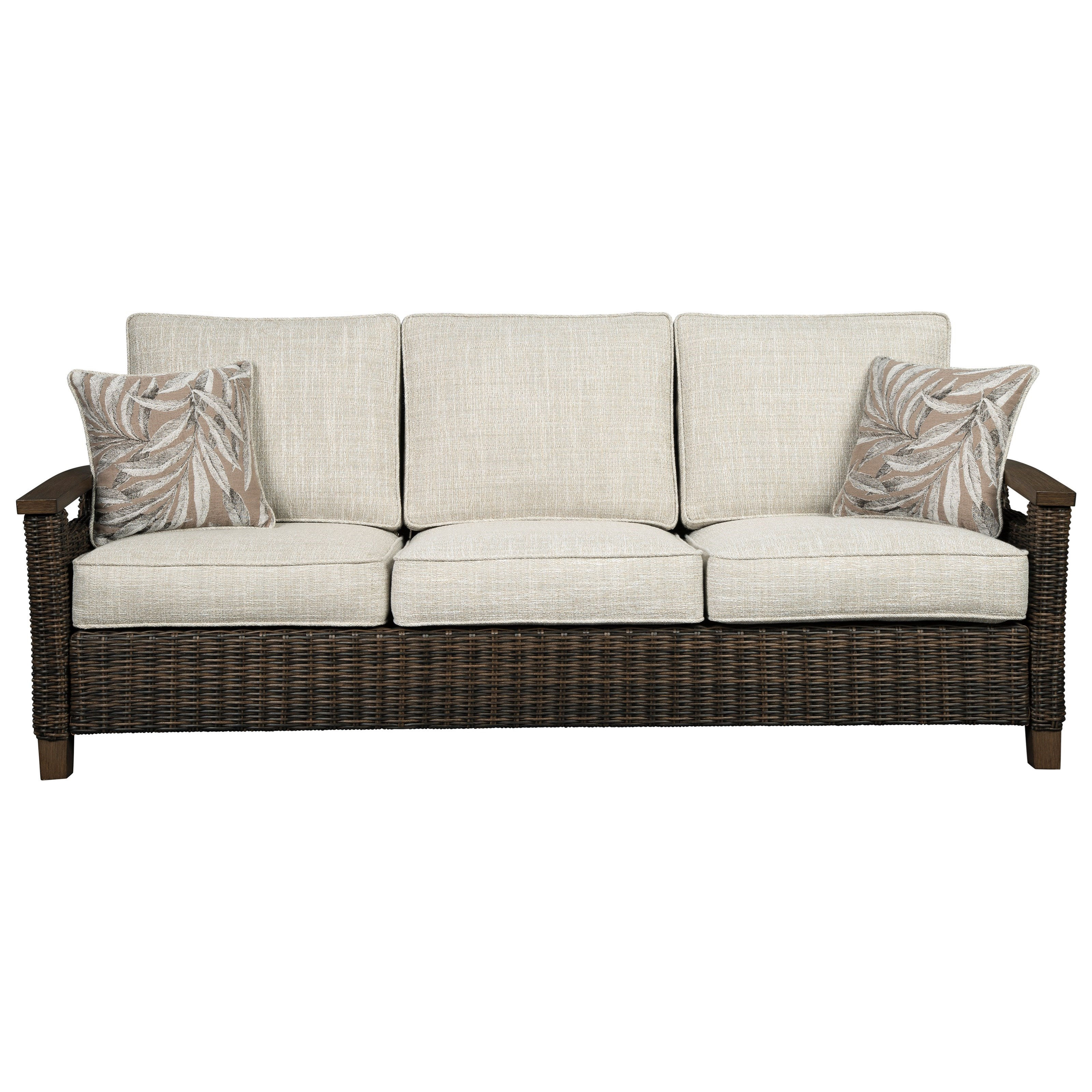 Paradise Trail Sofa with Cushion by Signature at Walker's Furniture
