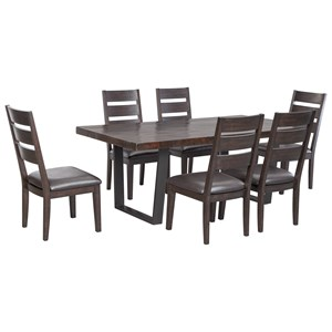 Signature Design by Ashley Parlone 7-Piece Rectangular Dining Table Set