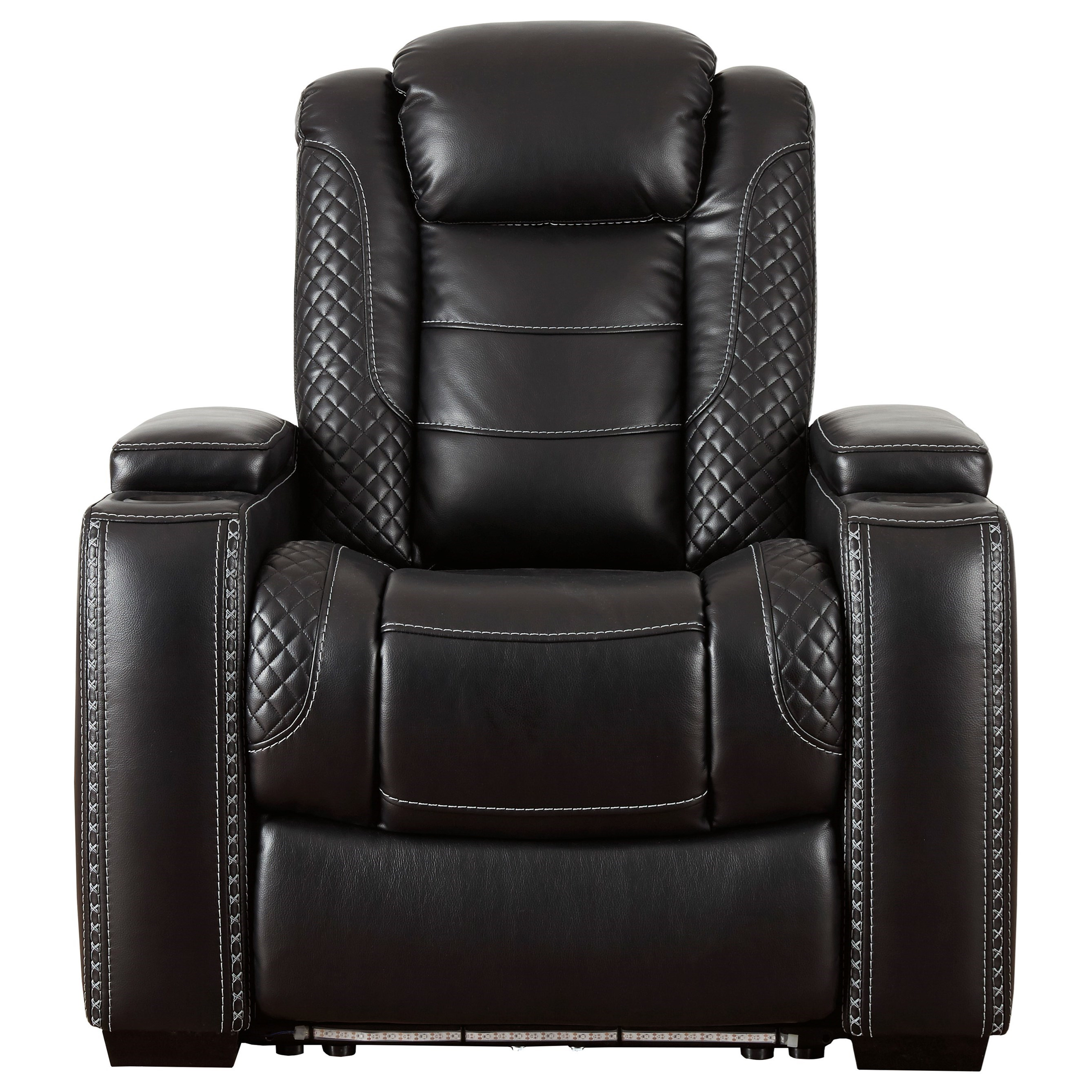 Party Time Power Recliner with Adjustable Headrest by Signature Design by Ashley at VanDrie Home Furnishings