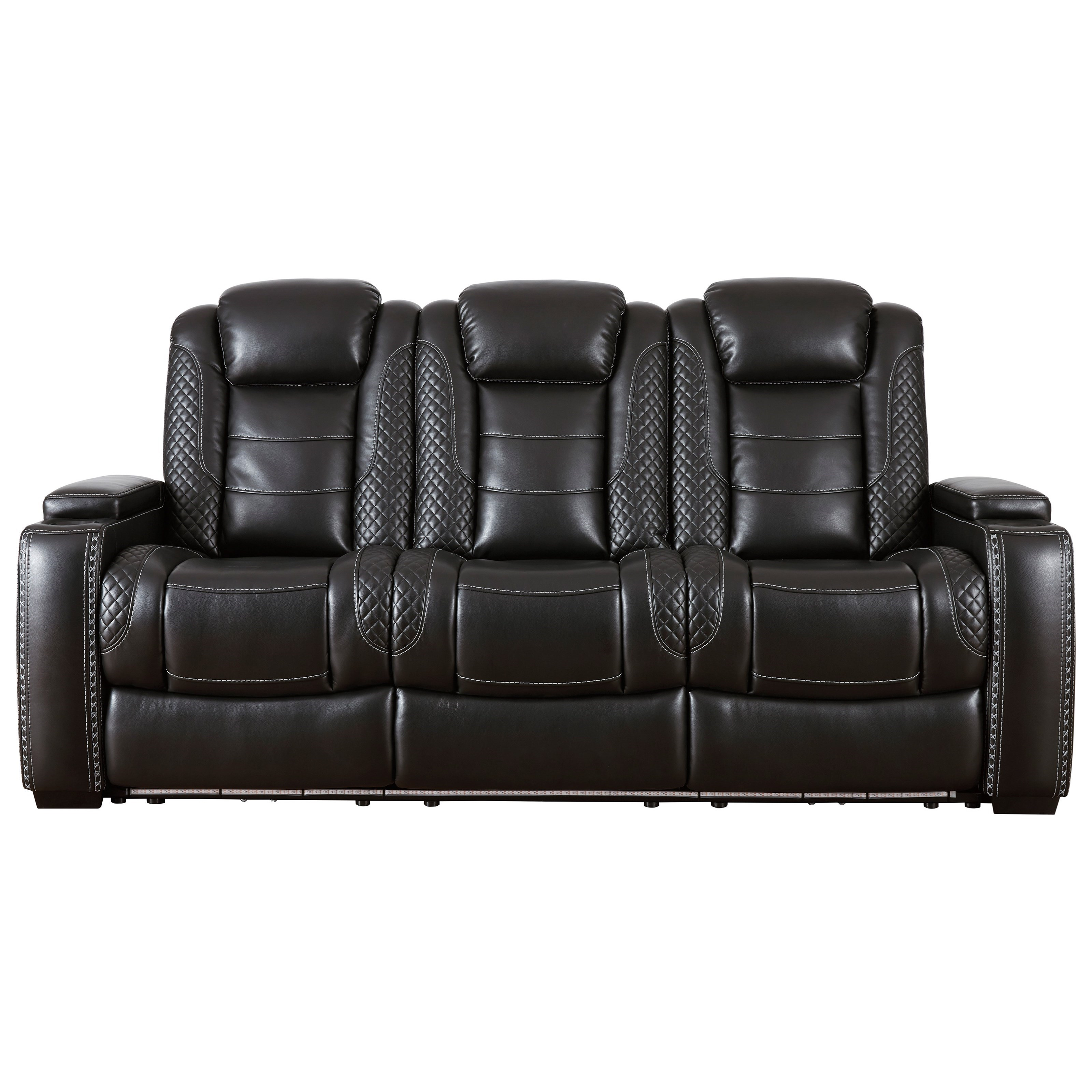 Party Time Power Reclining Sofa w/ Adjustable Headrests by Signature Design by Ashley at Northeast Factory Direct