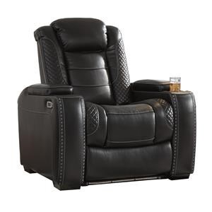 3 Faux Leather Power Recliners with Adjustable Headrest & Theater Lighting Set