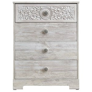 Relaxed Vintage Drawer Chest with Smooth-Gliding Drawers