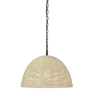 Signature Design by Ashley Pendant Lights Jovan Paper Rope Natural Pendant Light