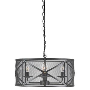 Signature Design by Ashley Pendant Lights Jovani Charcoal Metal Pendant Light